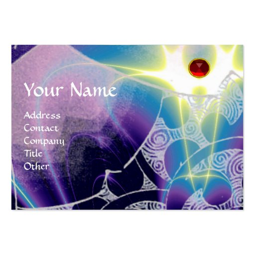 WAVES Ruby,bright vibrant blue white purple swirls Pack Of Chubby Business Cards