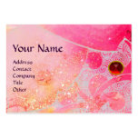 WAVES RUBY MONOGRAM, bright pink red purple blue Pack Of Chubby Business Cards