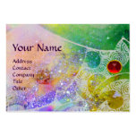 WAVES RUBY MONOGRAM, bright purple green blue pink Pack Of Chubby Business Cards