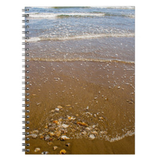 Waves Splashing Against Pebbles on a Beach Notebook
