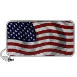Waving American Flag  Doodle Speaker