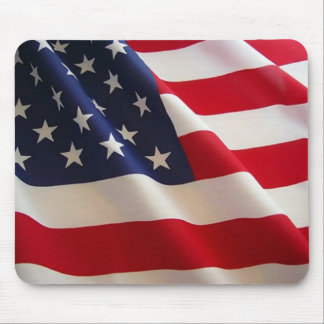 Waving American Flag Mouse Pad