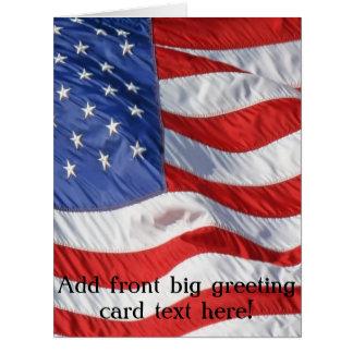 Waving American Flag Patriotic Big Greeting Card