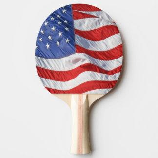Waving American Flag Patriotic Ping Pong Paddle