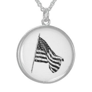 Waving American Flag Pendant