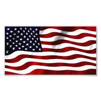 Waving American Flag Photo Print