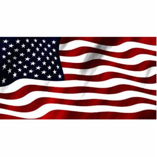 Waving American Flag Cut Out
