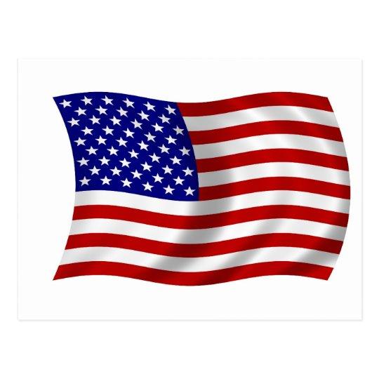 Waving American USA FLAG Postcard