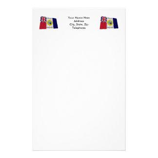 Waving Austin-Wharton-Archer Flag of Independence Customized Stationery