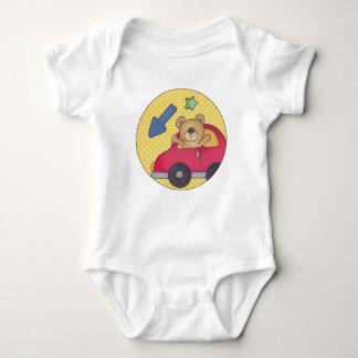 Waving Bear Baby Jersey Bodysuit