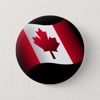 Waving Canadian Flag 6 Cm Round Badge