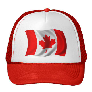 Waving Canadian Flag Cap