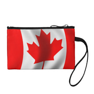 Waving Canadian Flag Coin Wallet
