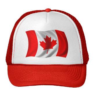 Waving Canadian Flag Trucker Hats