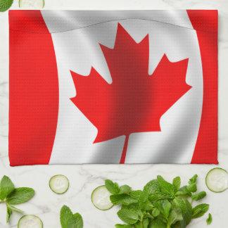 Waving Canadian Flag Tea Towel