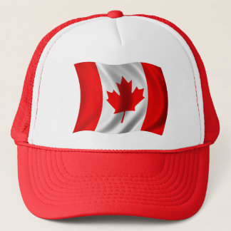 Waving Canadian Flag Trucker Hat