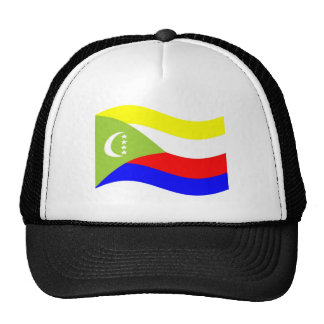 Waving Comoros Flag Mesh Hats