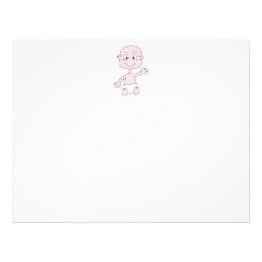 Waving Cute Baby. Flyer Design