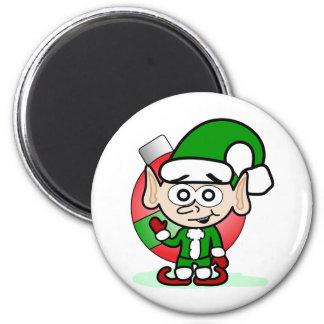 Waving Elf 6 Cm Round Magnet