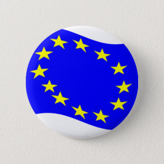Waving European Union Flag 6 Cm Round Badge