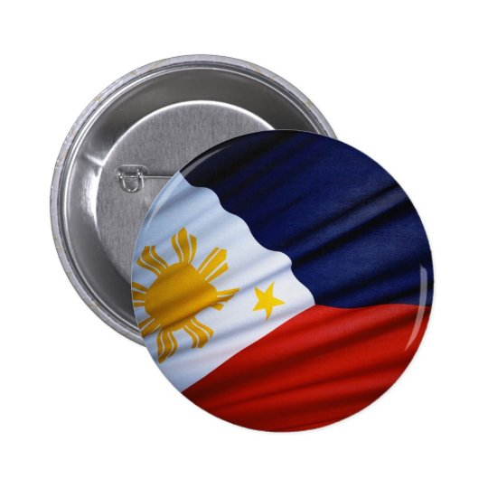 Waving Filipino Flag Button