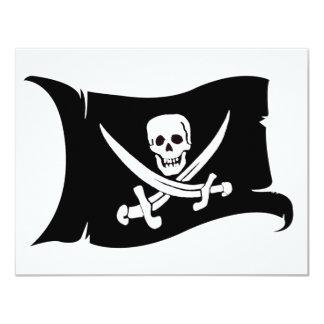 Waving Flag #10 Jack Rackham 11 Cm X 14 Cm Invitation Card