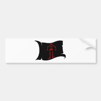 Waving  Flag #15 Edward Low Bumper Sticker