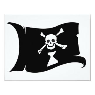 Waving Flag #9 Frederick Gwynne 11 Cm X 14 Cm Invitation Card