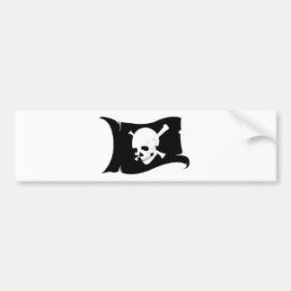 Waving Flag Jolly Roger #3 Bumper Sticker