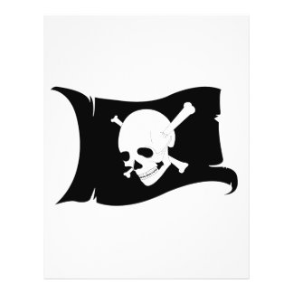 Waving Flag Jolly Roger 3 Flyers