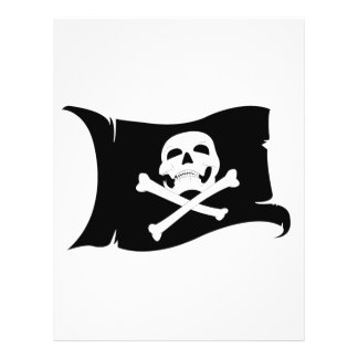 Waving Flag Jolly Roger 4 Flyers
