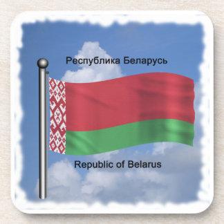 Waving Flag of Belarus Coaster