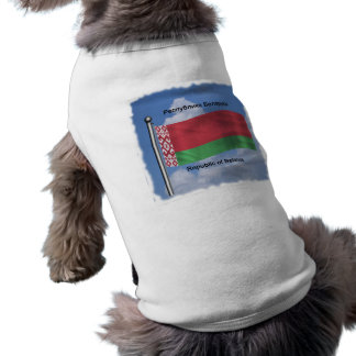 Waving Flag of Belarus Doggie T-shirt