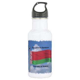 Waving Flag of Belarus 532 Ml Water Bottle