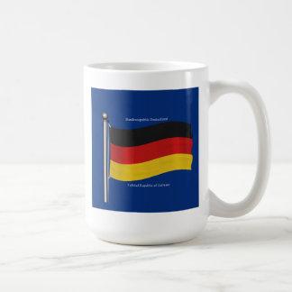 Waving Flag of Germany Basic White Mug
