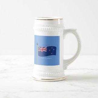 Waving Flag of New Zealand Coffee Mug