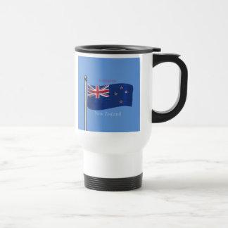 Waving Flag of New Zealand Stainless Steel Travel Mug