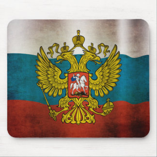 Waving flag of Russia Mousepad