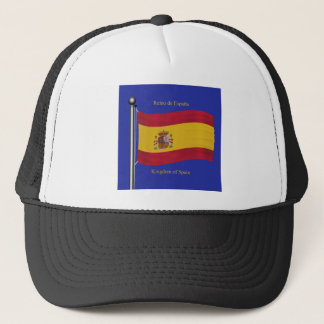 Waving Flag of Spain Trucker Hat