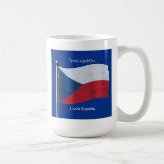 Waving Flag of the Czech Republic Coffee Mug