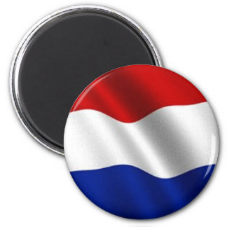 Waving Flag of the Netherlands 6 Cm Round Magnet