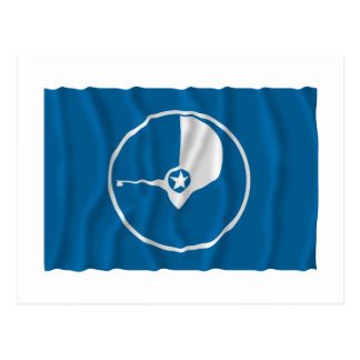 Waving flag of Yap Postcard