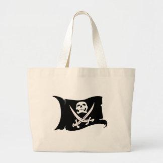 Waving Flag-Pirate Icon #10 Jumbo Tote Bag