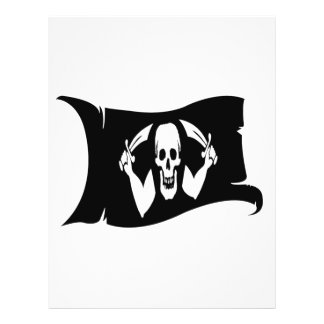 Waving Flag-Pirate Icon 1 Flyer Design