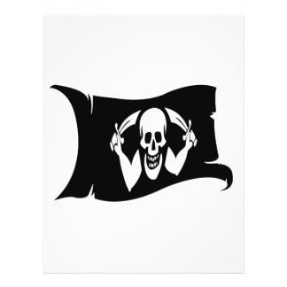 Waving Flag-Pirate Icon 2 Personalized Flyer