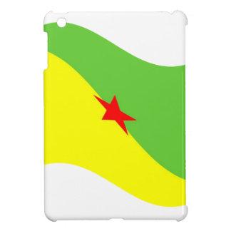 Waving French Guyana Flag Cover For The iPad Mini