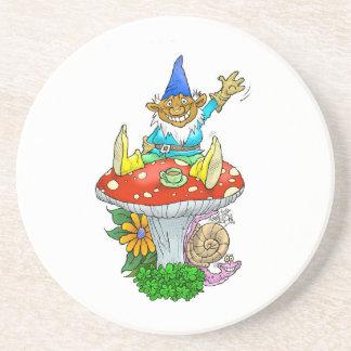Waving Garden gnomes tea break. Coasters