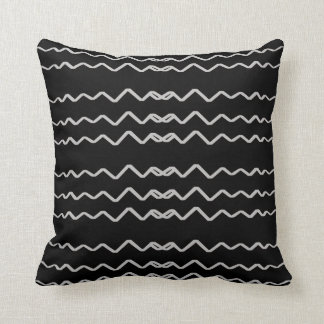 Waving Gay Decor-Soft Black Pillows