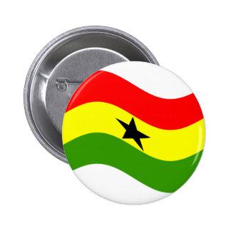 Waving Ghana Flag Pin