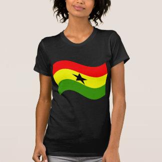 Waving Ghana Flag Tshirts